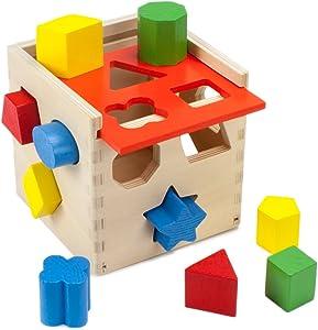 Imagination Generation Wooden Wonders Smart Shapes Sorting Cube (12pcs)