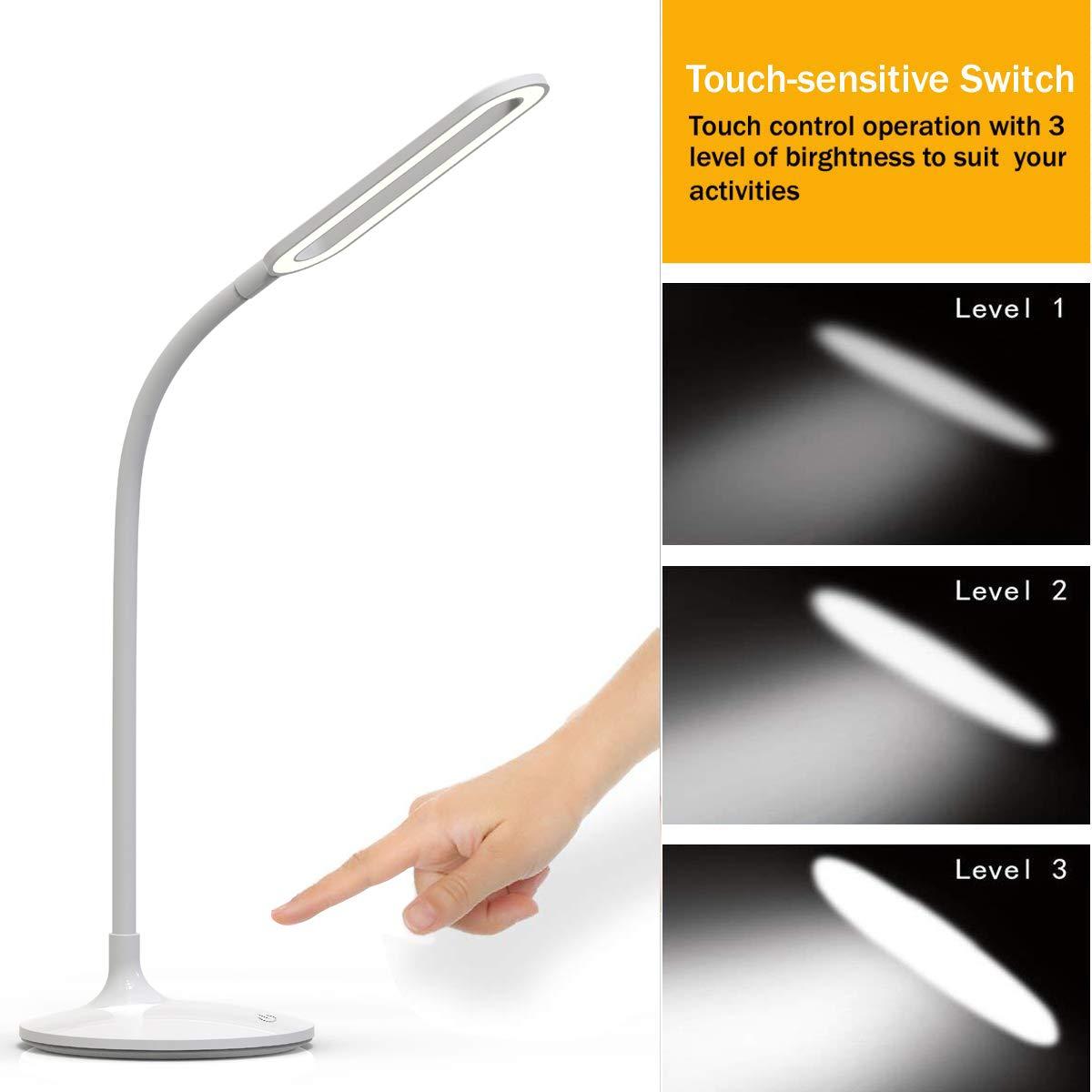3 Dateien Touch LED Augenschutz Tischleuchte Nachtlicht Nachttischlampe Licht DE