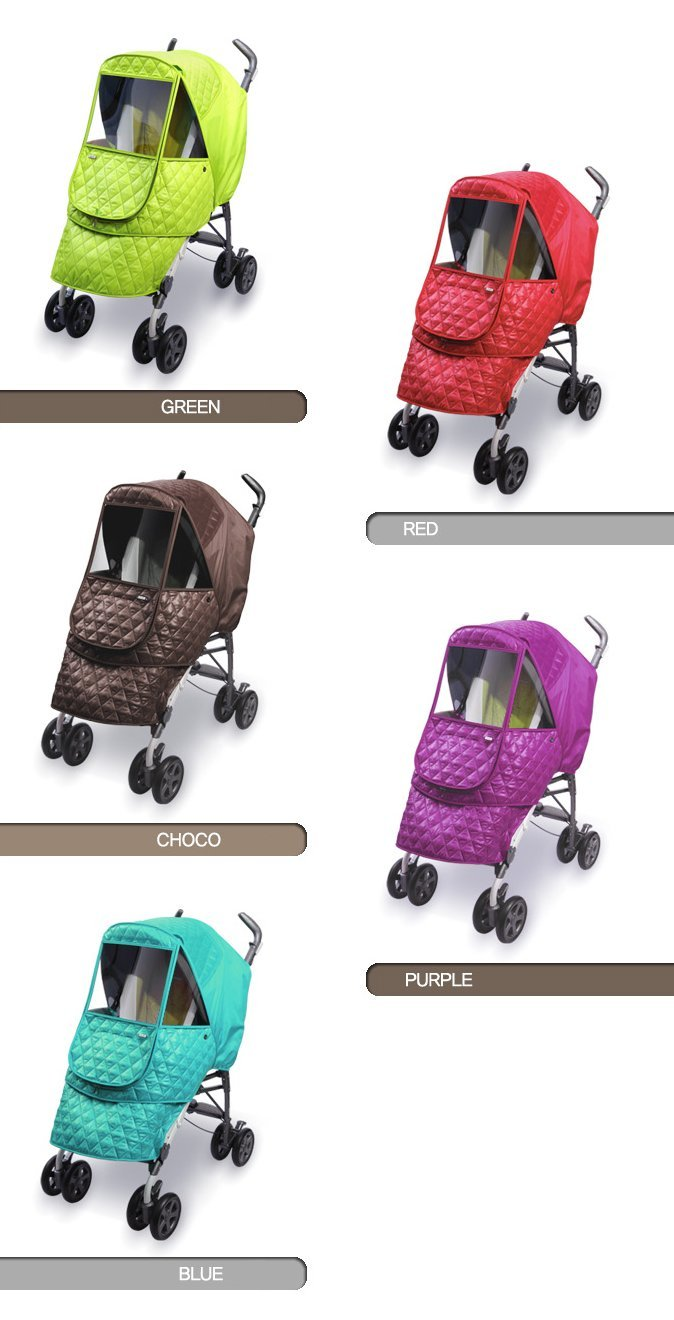 Manito Castle Alpha Stroller Weather Shield (Chocolate) by Manito (Image #7)
