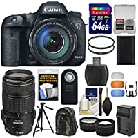 Canon EOS 7D Mark II GPS Digital SLR Camera & EF-S 18-135mm & 70-300mm IS USM Lens with 64GB Card + Backpack + Battery/Charger + Tripod + 2 Lens Kit Advantages Review Image