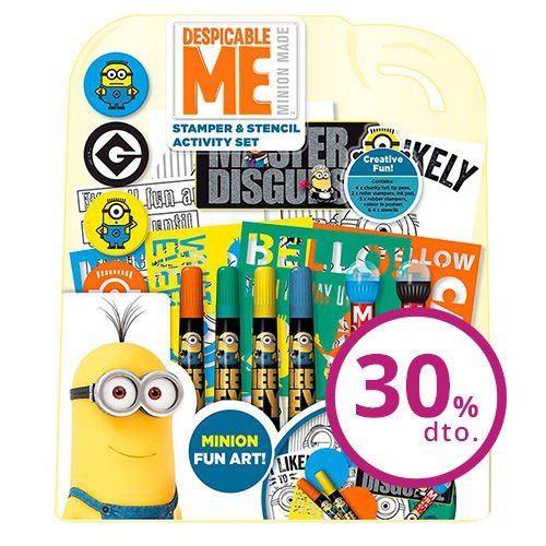 Despicable Me Minions Stamper & Stencil Set, Stencils, Roller Stamps, Felt Tip Pens, Ink Pad Lots of Fun