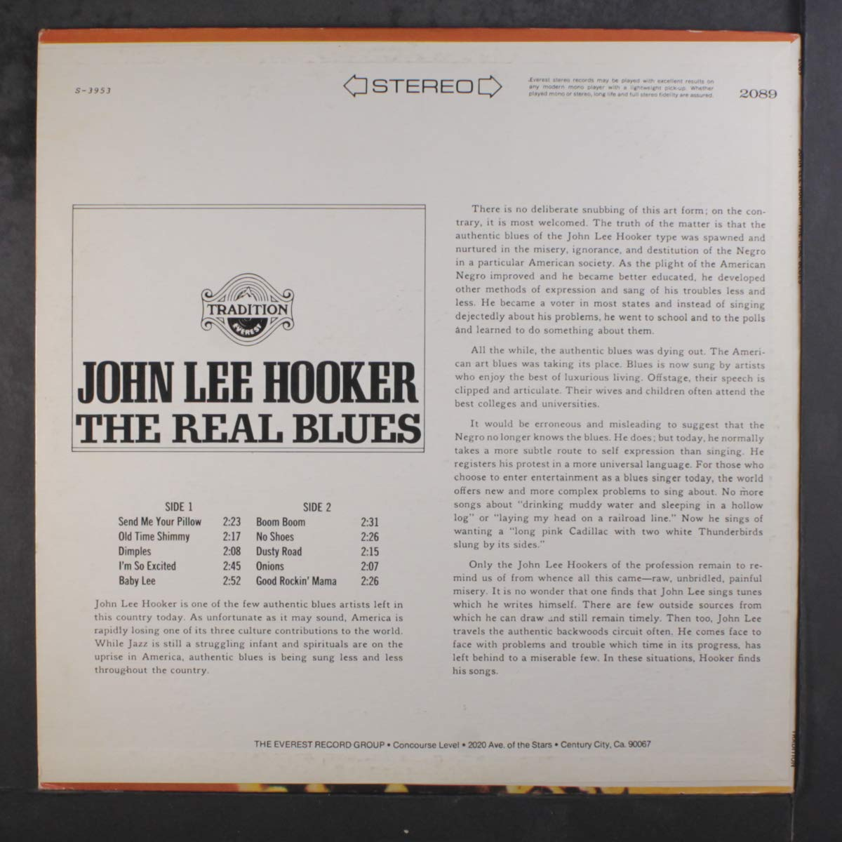 JOHN LEE HOOKER - the real blues LP - Amazon com Music