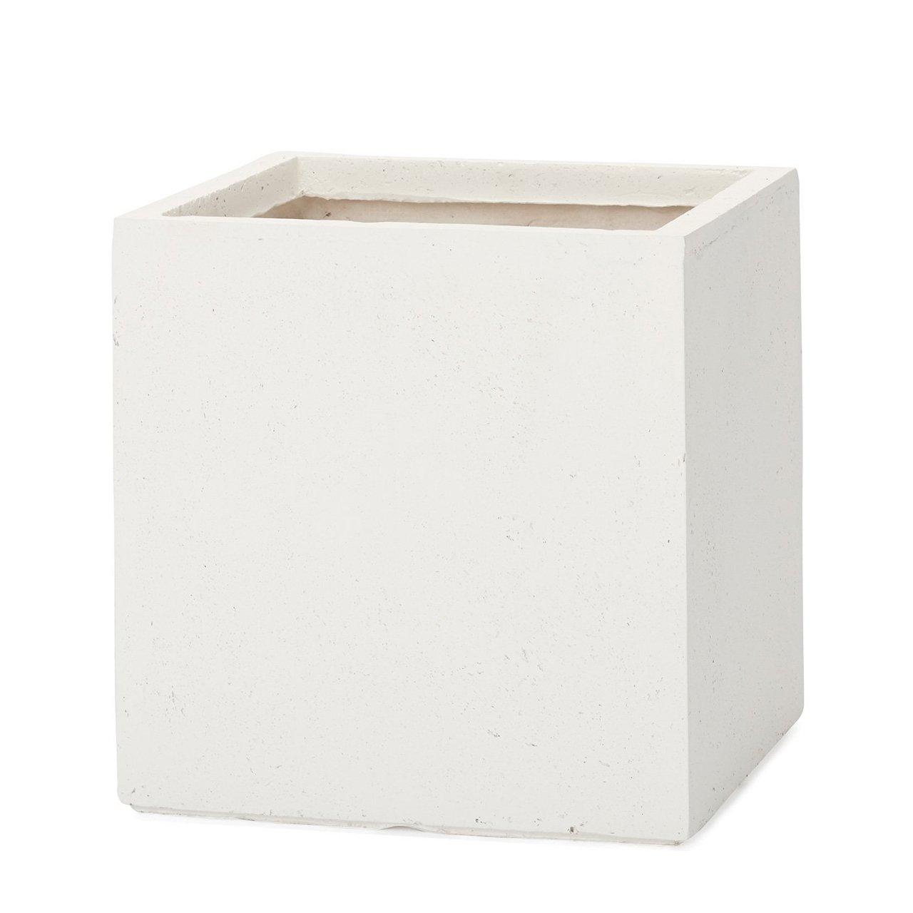 植木鉢 大型 ファイバークレイプロ ベータ キューブプランター 45 ホワイト B00LSB0JFG 45|ホワイト ホワイト 45