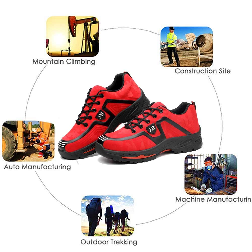 SUADEX Work Safety Shoes for Men Women Steel Toe Shoes Lightweight Puncture Proof Safety Construction Shoes