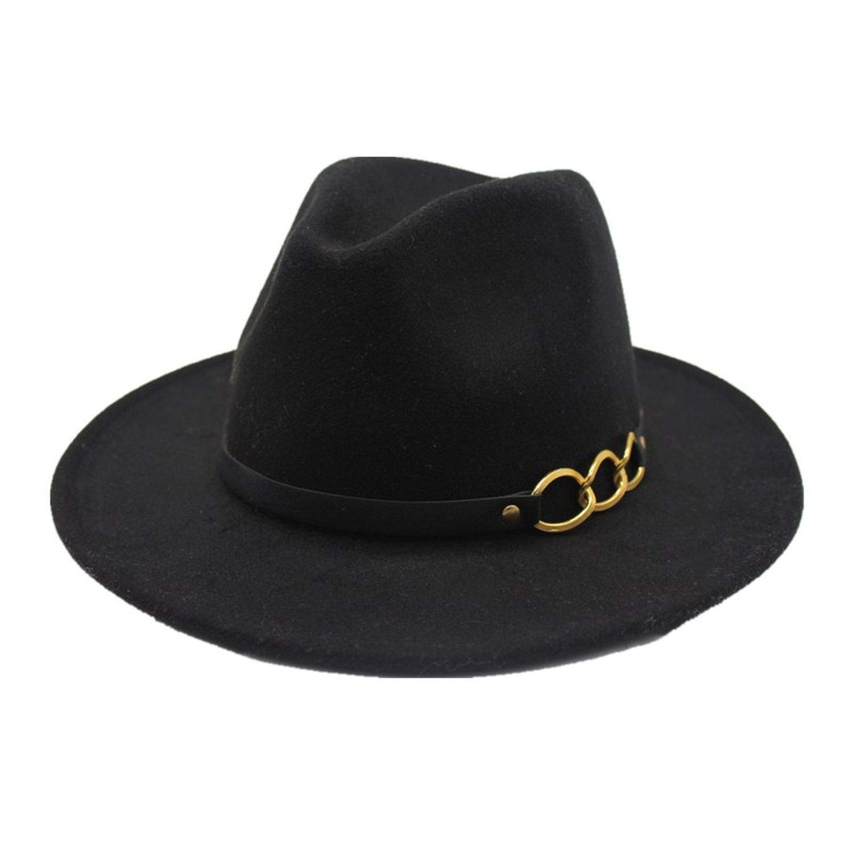 Winter Autumn Imitation Woolen Women Men Ladies Fedoras Top Jazz Hat European American Round Caps Bowler Hats