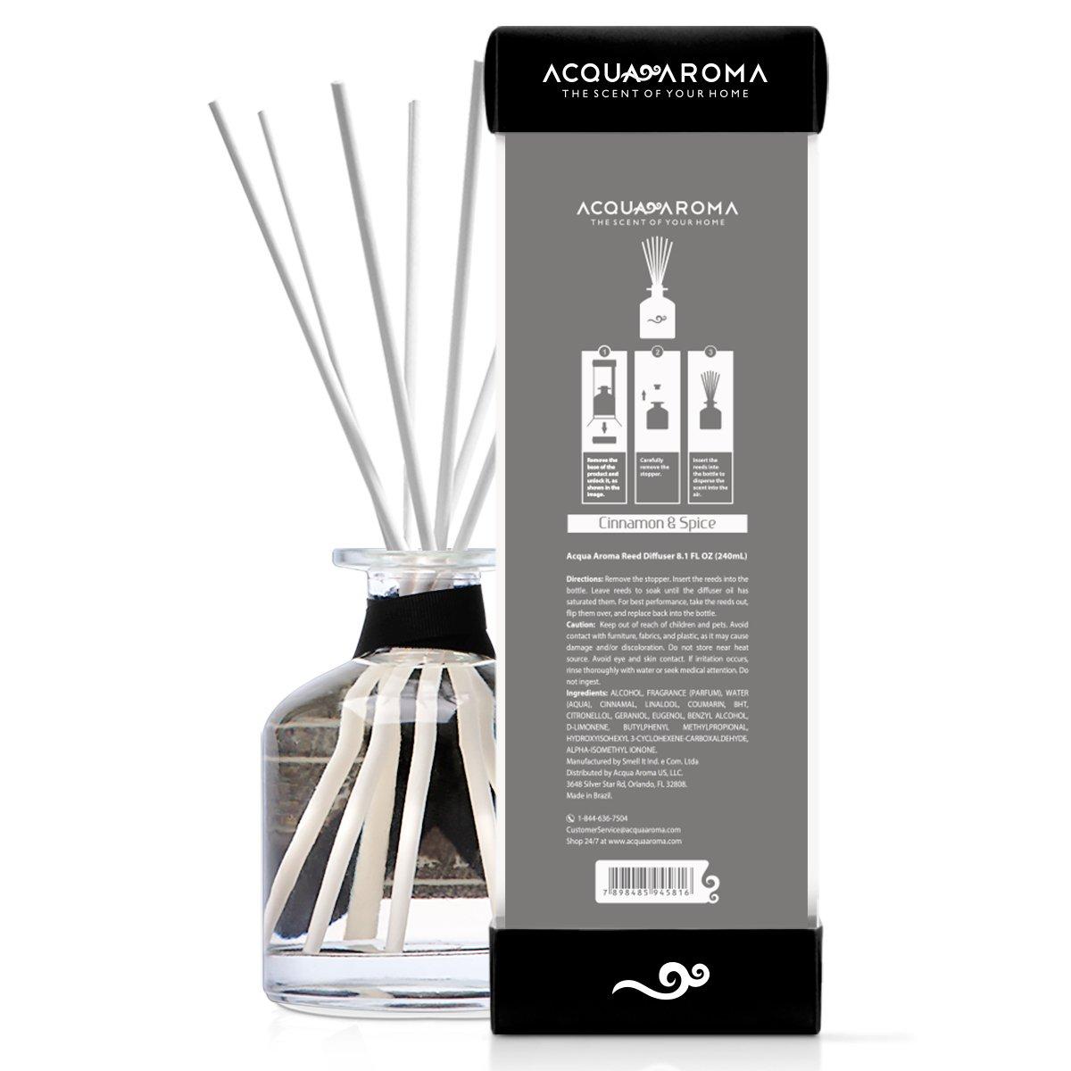 Acqua Aroma Everyday Collection Cinnamon & Spice Reed Diffuser 8.1 FL OZ (240ml) by Acqua Aroma (Image #3)