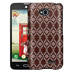 LG Optimus Exceed 2 Case, Slim Fit Snap On Cover by Trek Victorian Wallpaper Tan on Brown Case