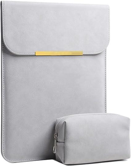 Resistente al agua ante Caso de notebook Con pequeño estuche bolsa,Caso de negocio portátil compatible con 12-15.6 pulgadas portátil-Gris E 15 pulgadas: Amazon.es: Oficina y papelería