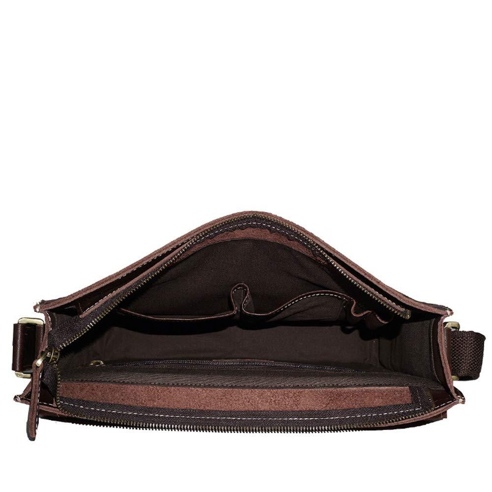 FeliciaJuan Mens Briefcase Large Capacity Business Laptop Handbag Shoulder Bag Genuine Leather Waterproof