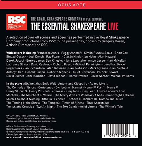 The Essential Shakespeare - Live [Box Set] by Opus Arte (Image #1)