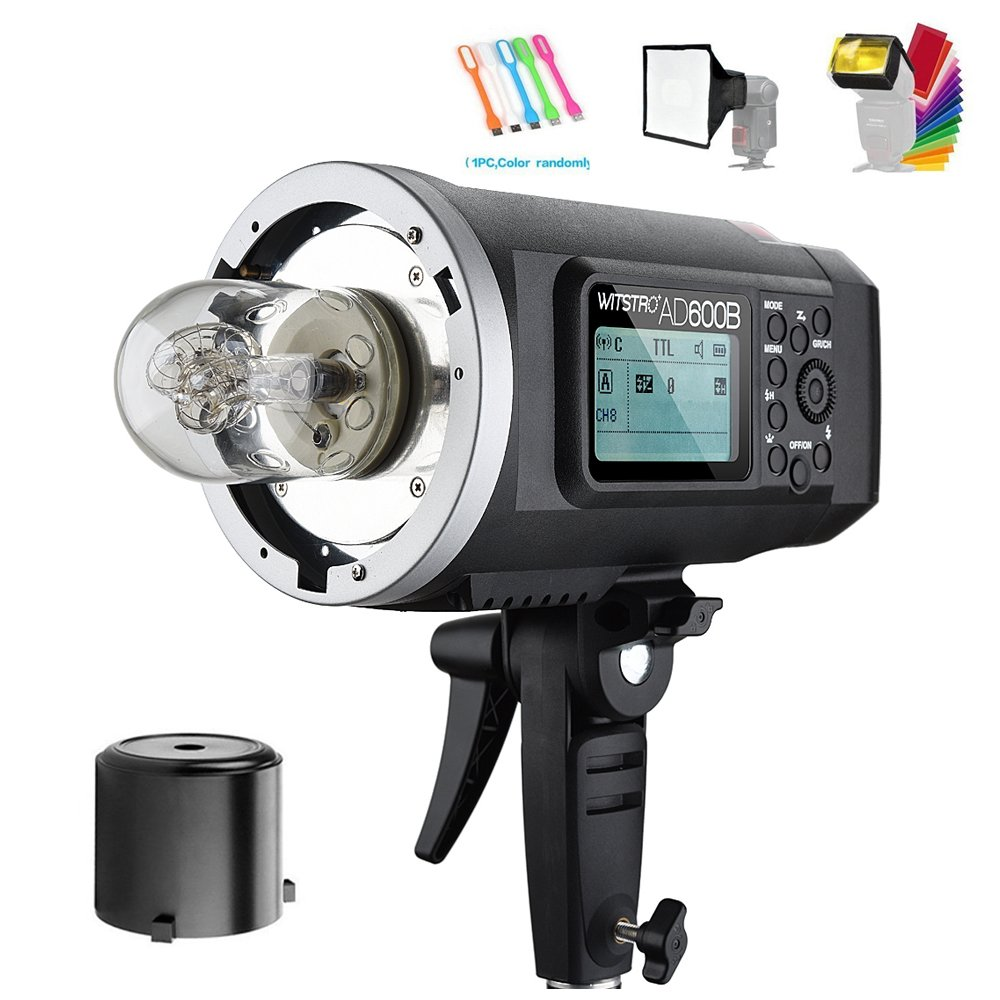Godox AD600B TTL 600Ws GN87 High Speed Sync Outdoor studio Flash Strobe Light,Build-in 2.4G Wireless X System,8700mAh Battery to Provide 500 Full Power Flashes Recycle in 0.01-2.5s( Bowens Mount )