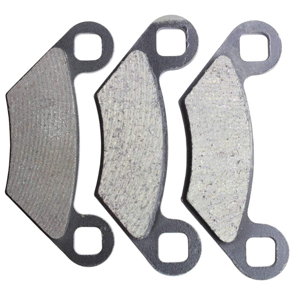 Front /& Rear Semi-Metallic Brake Pads Set Combo 2000-2014 Polaris Sportsman 400 500 2203628 2205606 2204088 2202412