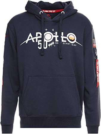 ALPHA INDUSTRIES Sweat à Capuche Apollo 50 Patch: