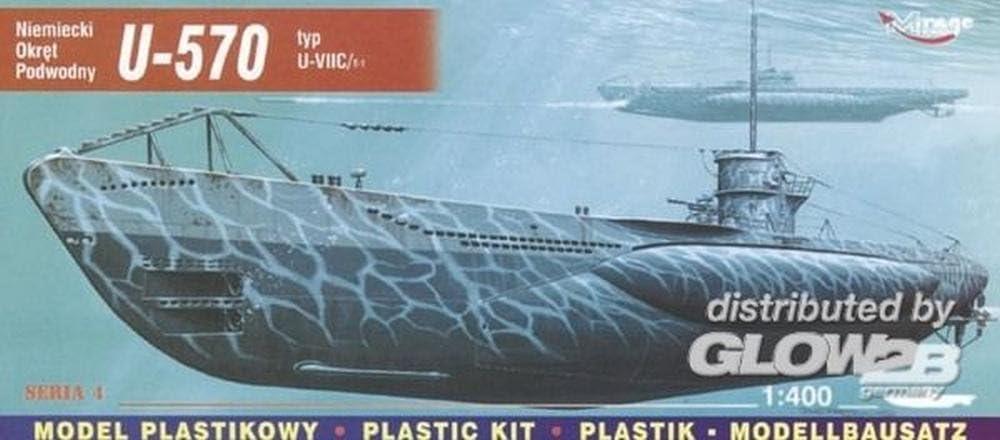 1: 400 /échelle kit de mod/èle en plastique U-570 U-typ VIIC Turm je sous-marin allemand Mirage Hobby 40411