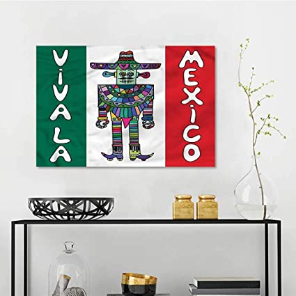 Amazon Com Mexican Anti Fading Oil Painting Robot With Sombrero