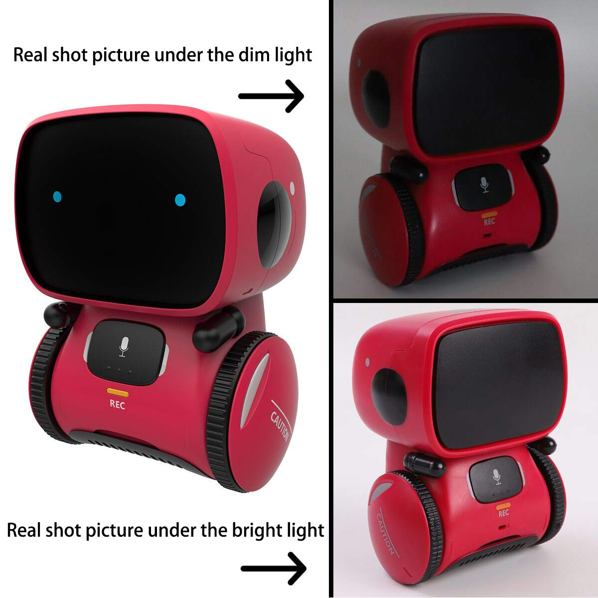 Kids Robot Toy, Smart Talking Robots, Gift for Boys and Girls Age 3+, Intelligent partner and teacher, with Voice Controlled and Touch Sensor, Singing, Dancing, Repeating by 98K (Image #6)