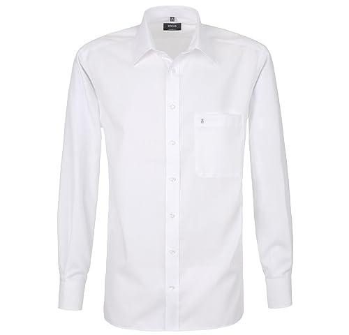 Eterna Herrenhemd Langarm Baumwoll Hemd Baumwollhemd Herren Business Hemden Comfort Fit Weiß Gr. XXL...