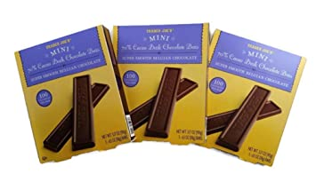 Trader Joes Mini 70 Cacao Dark Chocolate Bars Super Smooth Belgian 100