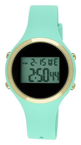 Moulin Ladies Pastel Color Digital Jelly reloj menta # 03158 - 76625: Amazon.es: Relojes
