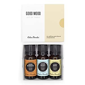 Edens Garden Good Mood Essential Oil 3 Set, Best 100% Pure Aromatherapy Uplifting Kit (For Diffuser- Energy & Stress), 10 ml