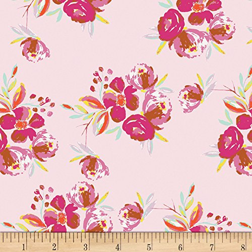 Art Gallery Wild Bloom Corsage Charm Pink Fabric By The Yard by Art Gallery Fabrics