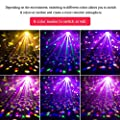 U`King Sound Activated Party Lights, RBG Disco Ball Light Strobe Lamp with Remote Control 7 Modes DJ Lighting LED Stage Lights for Room Birthday Parties Karaoke Wedding Dance Club