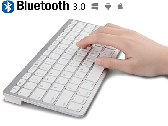 Famous Quality Ultrathin Bluetooth Keyboard for Tablets  White  Keyboards