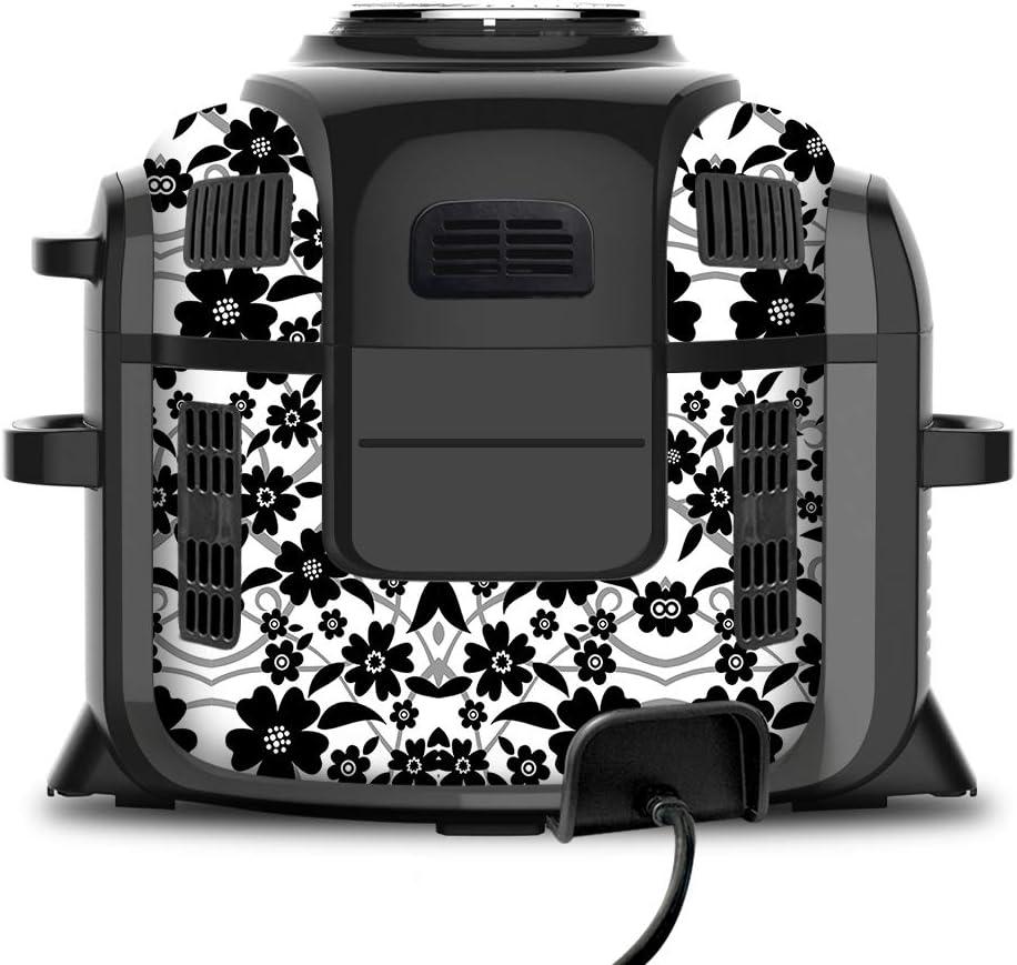 Black White Floral Pattern OP302 107 KRAFTD Wrap for Ninja Foodi 6.5 Quart QT Accessories Cover Sticker Wraps fit Ninja Foodi 6.5 Quart QT Mdl