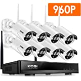 ZOSI 8 Channel 960p AUTO-PAIR WIRELESS SYSTEM 8CH 960P NVR with 8x 1.3P 960P HD Wireless Security IP Camera System (Auto-Pair, Built-in Router, 1.3MP Camera, No hard disk)