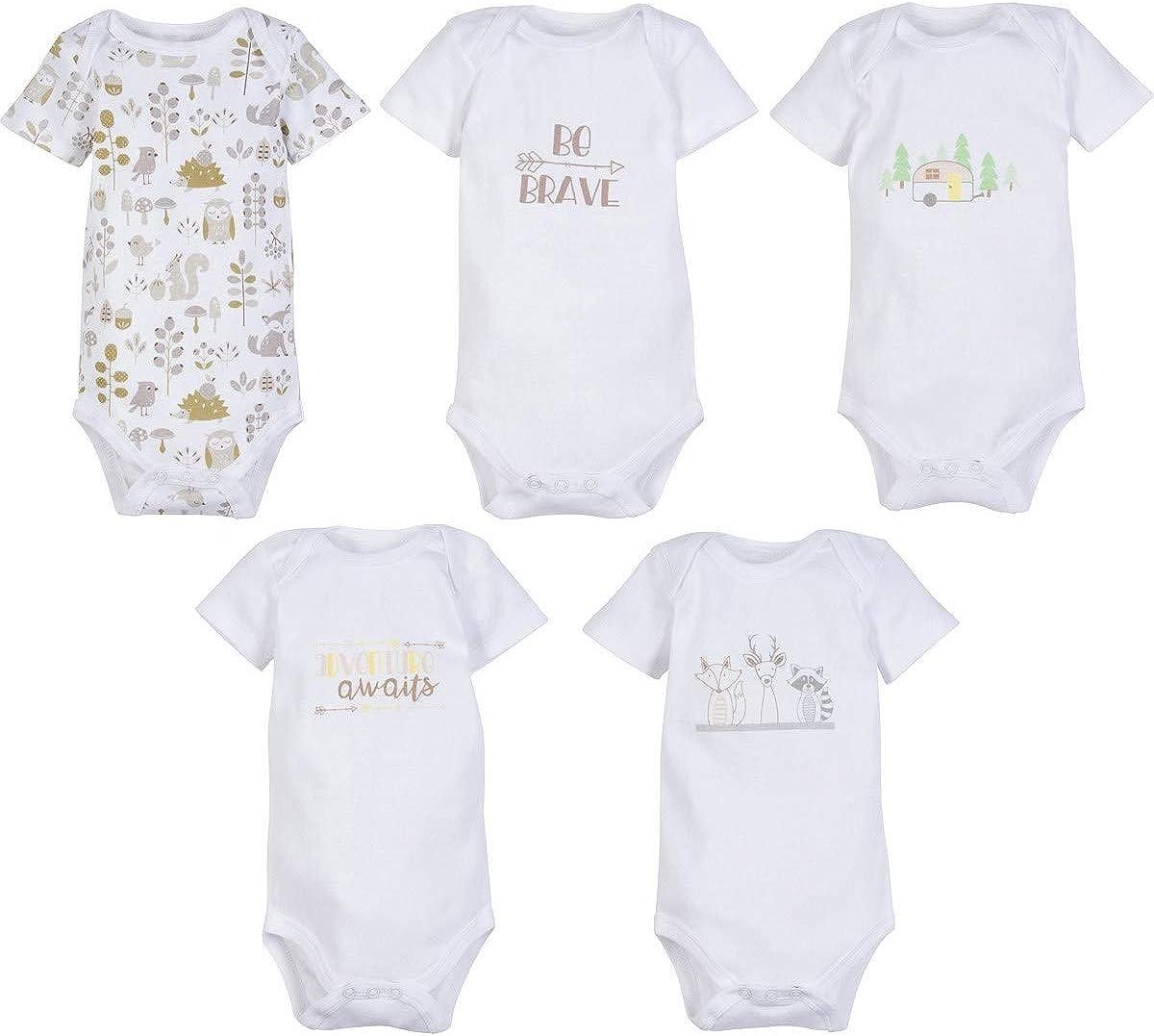 MiracleWear Cute Kid's Bodysuit Outfits (5-Pack) Baby Boy & Neutral Unisex Daywear Print Clothing Sets