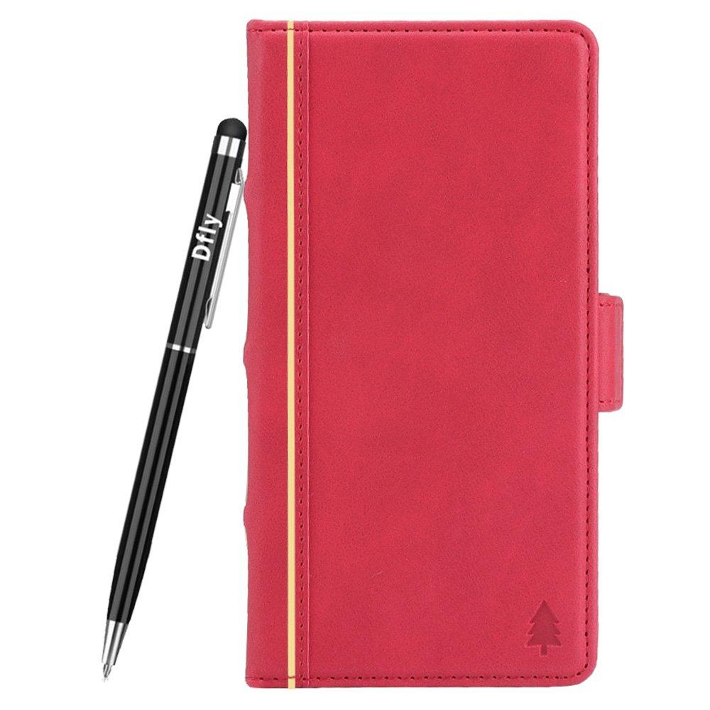 Dfly Custodia Galaxy S9 Plus, [Stile del Libro] [Retro in Pelle PU Premium] Raccoglitore di Vibrazione Staccabile con [Funzione Kickstand] [Slot per Schede] [Chiusura Magnetica] [Penna di Tocco Libero] - (Samsung Galaxy S9 Plus,Blu) SAMS9P-04
