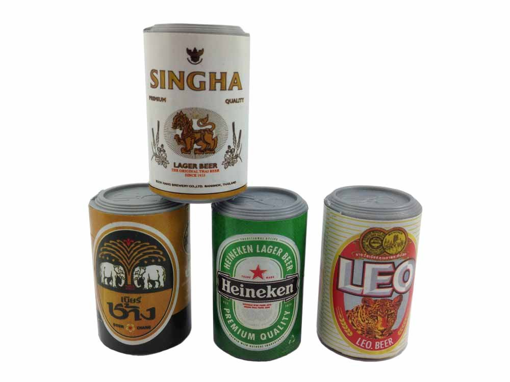 4pc Beer Can Wall Magnet Collection 3d Fridge Magnet SOUVENIR TOURIST GIFT ETC-002 by Mr_air_thai_Magnet_Food