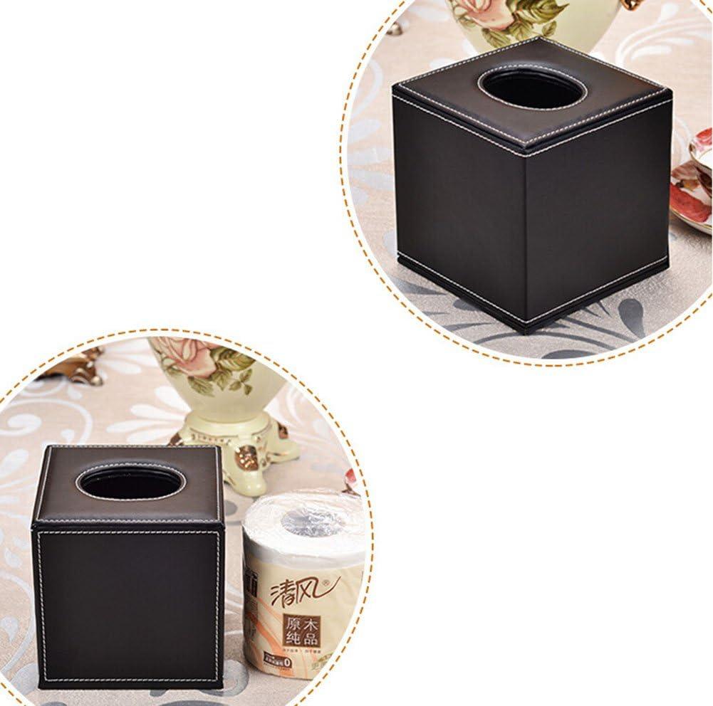 Golden 14*13.5*13.5cm goldfarben Taschentuchspender dylandy quadratisch Cube PU Leder Seidenpapier f/ür Home Office Auto 14/* 13,5/* 13,5/cm