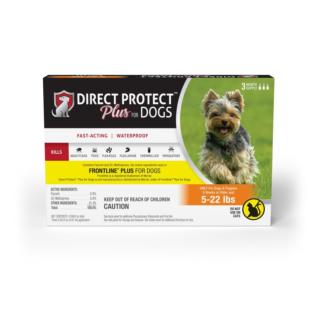 Direct Protect Plus  Flea & Tick Topical for Dogs 5-22 lbs