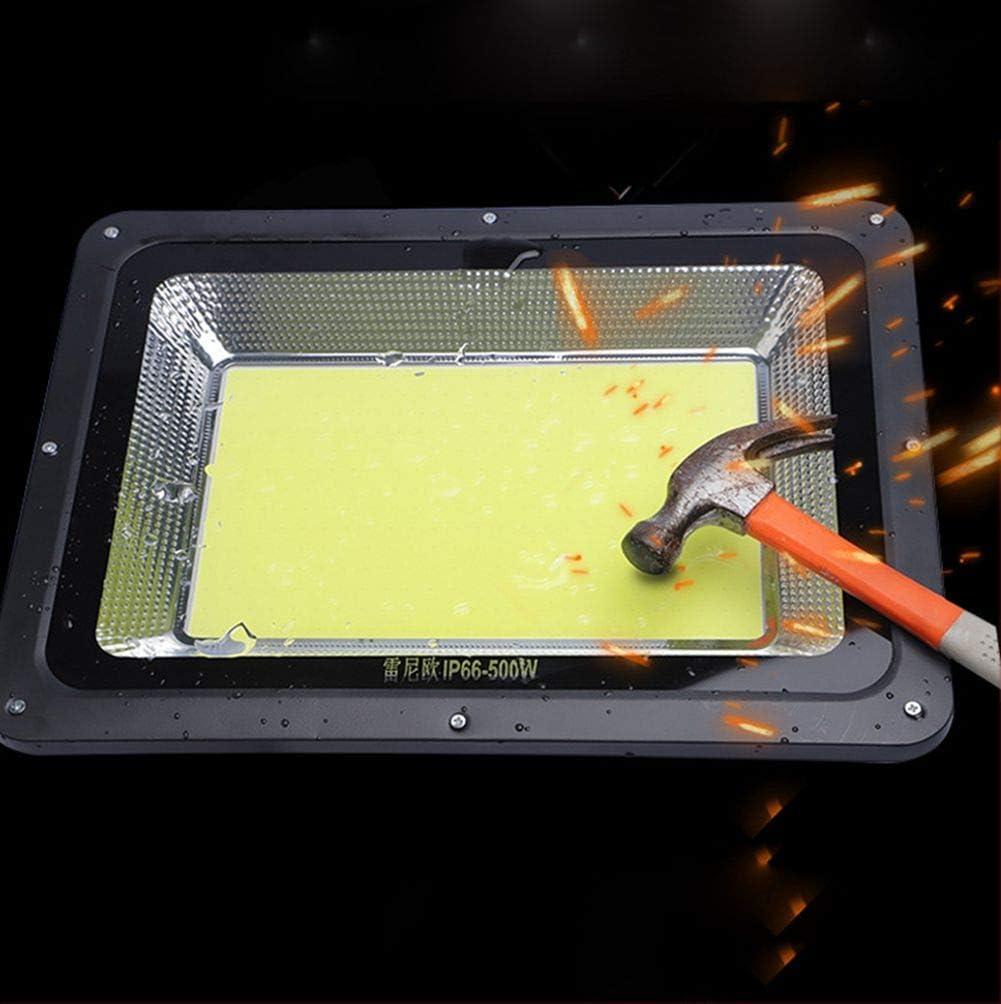 Foco Proyector LED Ideal Para Jard/ín Etc. Patio Hotel IP66 Resistente Al Agua /Ángulo De Haz De 180 /° Floodlight Exteriores Interiores Garaje 18000 L/úmenes 6500 K Foco Led Exterior 500 W