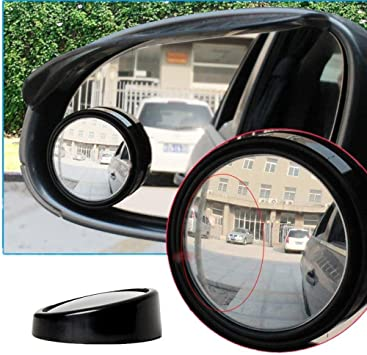 "2 Pcs Universal 2/"" Round Angle Rear Side View Blind Spot Mirror for Car"