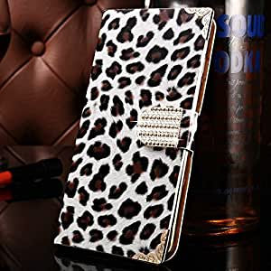 10 pcs/lot Deluxe Leopard Skin Bling PU Leather Case For iPhone 6 Plus 5.5 Inch Rhinestone Buckle Phone Bag Cover Wholesale --- Color:rose