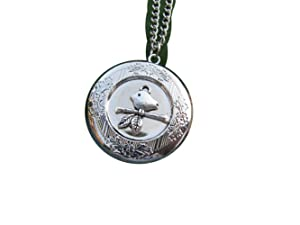 Locket Necklace, Round Locket,Bird Locket Pendant, Round Locket Jewelry, Bird Jewelry