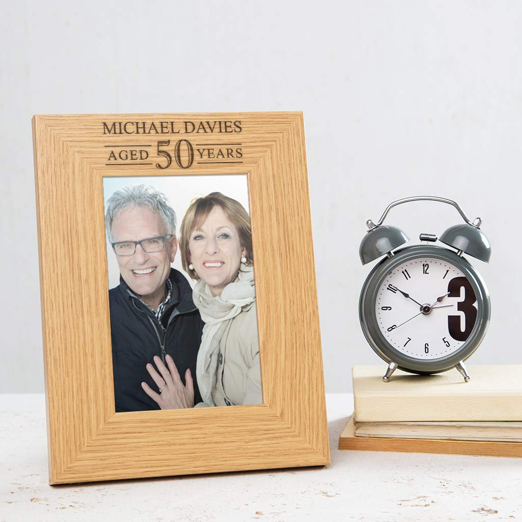 Personalised wooden memory box and photo album 50th birthday present