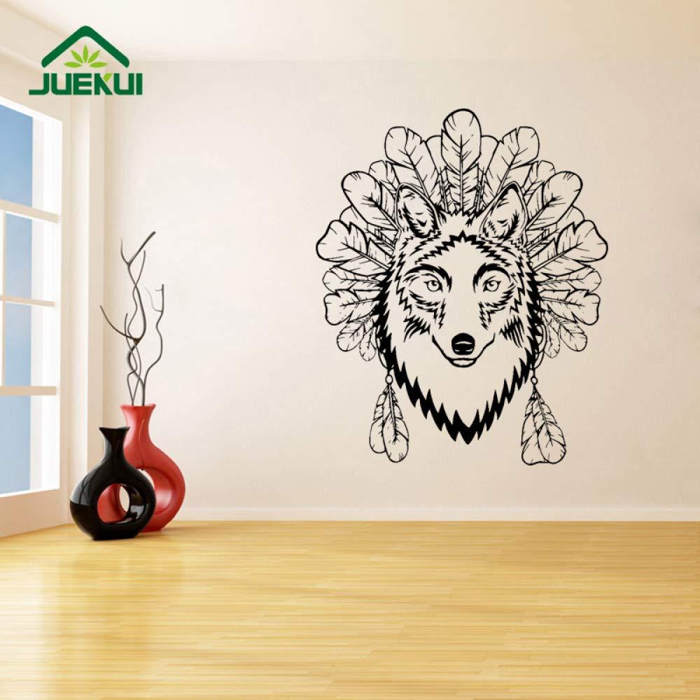 Lobo y decoración de la Pared calcomanías Dormitorio Arte ...