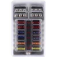 Light Blade Fuse Box, 12-36 V Tillverkad av ABS och metall värmebeständighet Material-Blade-typ säkring låda för…