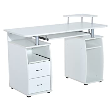 shelf and garden desk combo office product home shipping rotating free today homcom