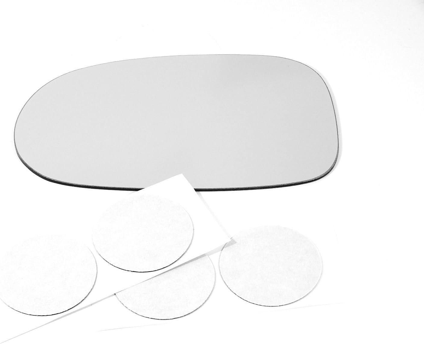 Fits 01-06 Elantra Left Driver Mirror Glass Lens  w// Adhesive       USA