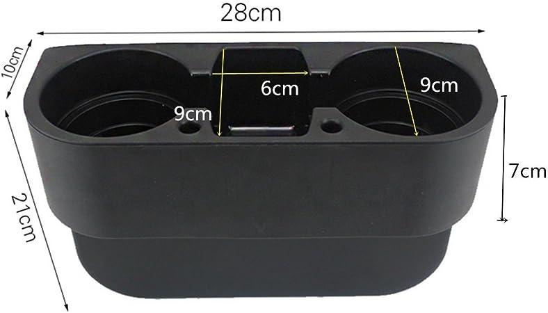 Negro multifunci/ón coche Auto asiento lateral de Gran organizador Van taza de almacenamiento botellas de bebida puede soporte