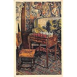 Napoleon's Chessmen and Table at Biltmore House & Gardens Biltmore, North Carolina, NC, USA Old Vintage Chess / Checkers Postcard Post Card