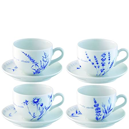 LSA International RBG Kew Cup and Saucer, Clear, 0.28 Litre: Amazon ...
