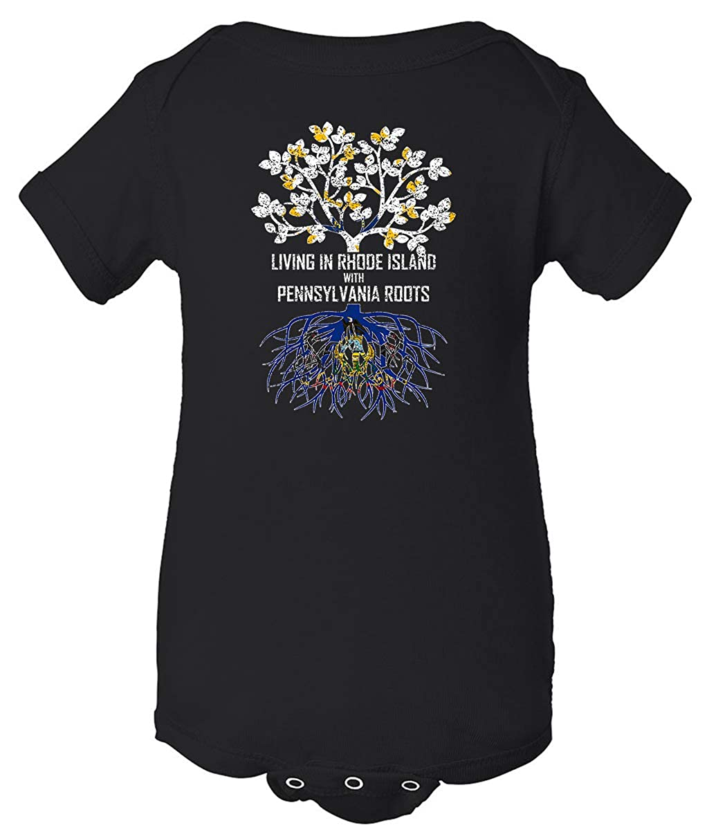 Tenacitee Babys Living in Rhode Island Pennsylvania Roots Shirt