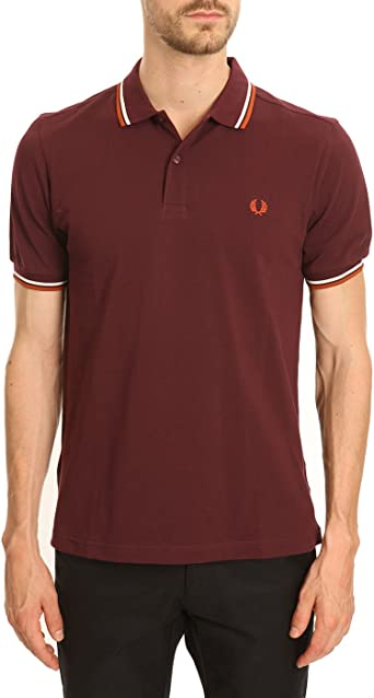Fred Perry M3600, Polo Para Hombre, Ecru/Purple/Carbon Blue ...