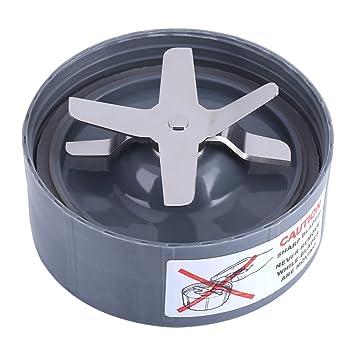 Fdit Pieza de Repuesto de Base de Cuchilla de Acero Inoxidable Cross Extractor para NutriBullet Blender 600 / 900W(900W): Amazon.es: Hogar