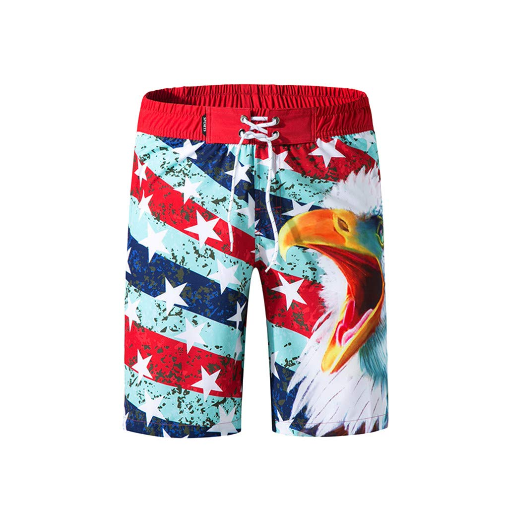 Mens Soft Hawaii Surfing Traveler Vintage Beach Shorts Swim Trunks Board Shorts
